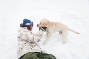 staying active outside with your dog in the winter
